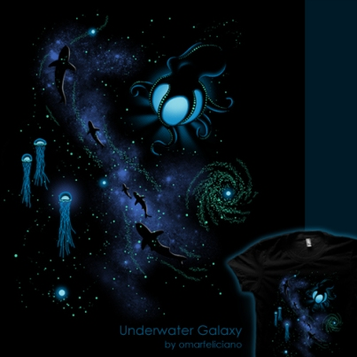 UnderwaterGalaxy ShirtComp 500
