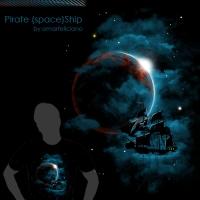 Pirate SpaceShip ShirtComp500
