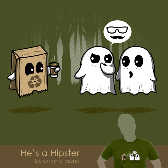 HipsterGhost ShirtComp